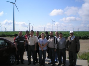 Turkmen with wind turbines