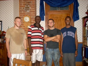 Dennis and Victor with the Nichols boys, who are in college
