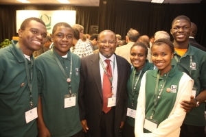YES students meet TZ ambassador