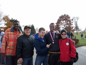 Dennis and family at the State Cross Country meet
