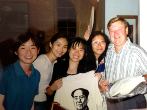 Bob with part of the Hong Kong Rule of Law for Journalists group. Summer '96