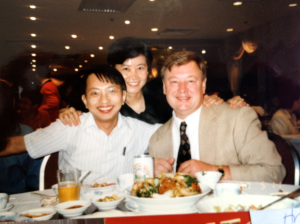 Bob with members of the Rule of Law Hong Kong Program during his follow-up in Hong Kong. -October '96