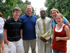 Yusuf Marafa with his host family, the Geigers in 2009.