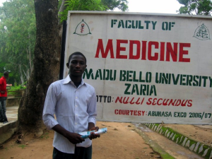 Muawiya Adamu studying at Ahmadu Bello University in Zaria, Nigeria.