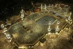 A bird's eye view of Mecca, Saudi Arabia.