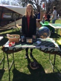 Rachel shares information about IRIS at the Earth Day celebration